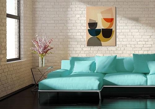 Kolorowa abstrakcja - obraz na płótnie